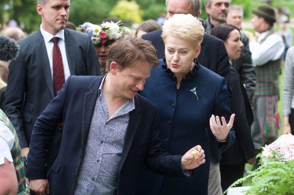 Dalia Grybauskaitė ir BBC žurnalistai