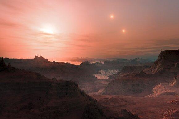 Taip galėtų atrodyti saulėlydis Gliese 667 Cc planetoje