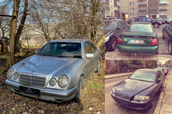 """Gatvėje paliekami ir """"Mercedes-Benz"""", ir """"Volvo"""", ir """"Audi"""""""