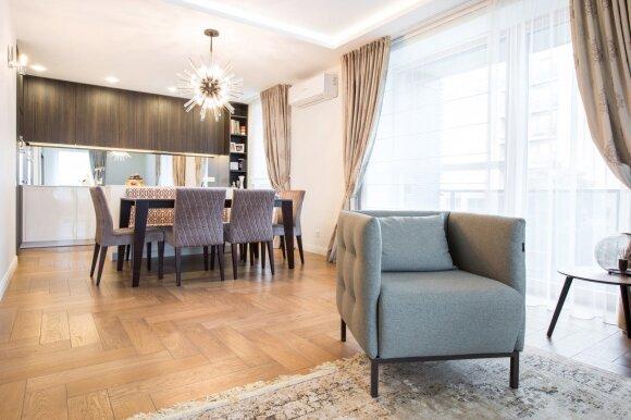 76 kv.m butas Vilniuje: gaivi klasikinio modernizmo interpretacija