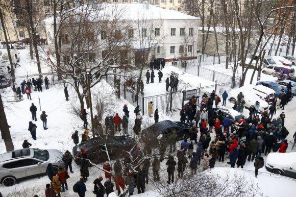 Paskubomis surengtas Navalno teismas, advokatei pranešta likus kelioms minutėms iki jo pradžios