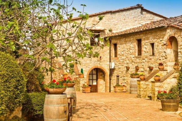 Toskanos kraštovaizdžio dizainas