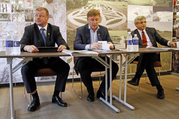 Saulius Skvernelis, Ramūnas Karbauskis ir Virgilijus Poderys