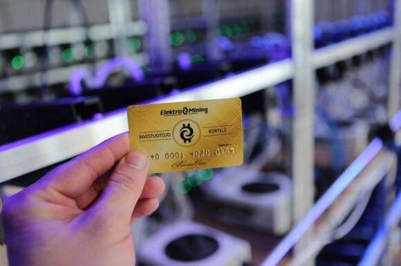 ELEKTROMINING investuotojo kortelė