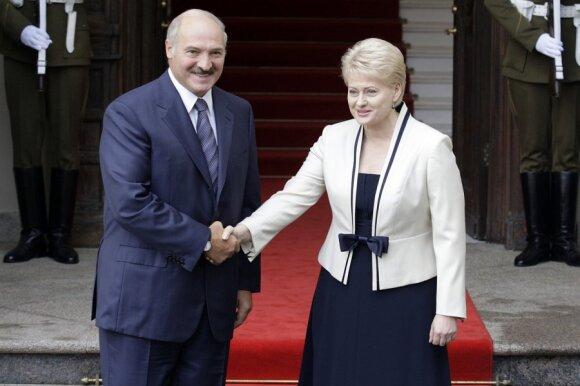A. Lukašenka ir D. Grybauskaitė
