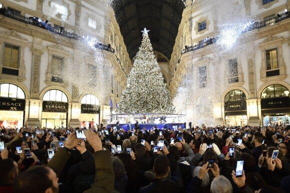 Kalėdų eglė Milane