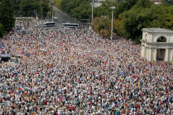 В центре Кишинева растет палаточный лагерь протеста