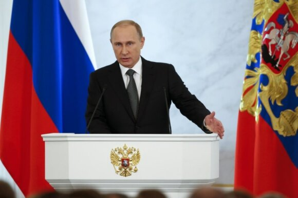 Vladimiro Putino pranešimas šalies parlamento žemiesiems rūmams.