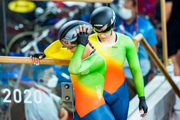 Simona Krupeckaitė ir Miglė Marozaitė moterų komandų sprinto lenktynėse Tokijuje