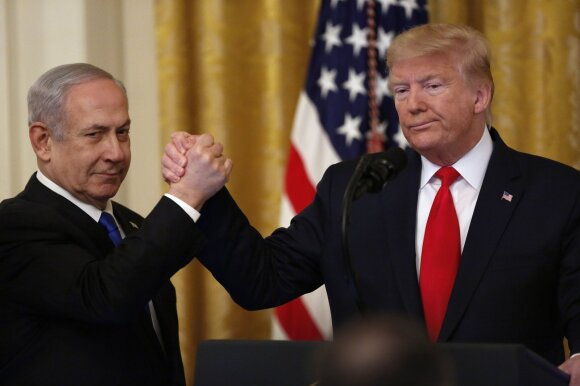 Benjaminas Netanyahu, Donaldas Trumpas