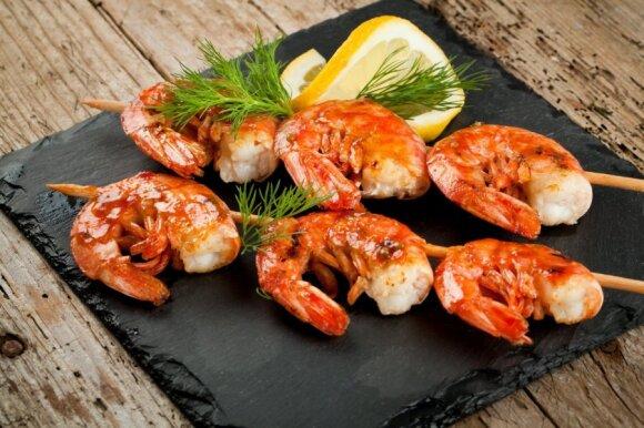 Krevetės – vertingi produktai gurmaniškam stalui