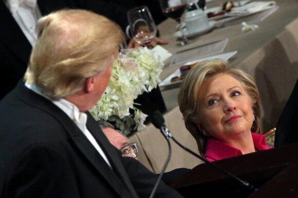 H. Clinton ir D. Trumpas