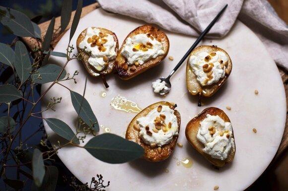 2 receptai su ožkų pieno sūriu: užkandis ir desertas