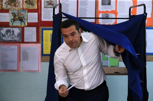 Alexis Tsipras balsuoja EP rinkimuose