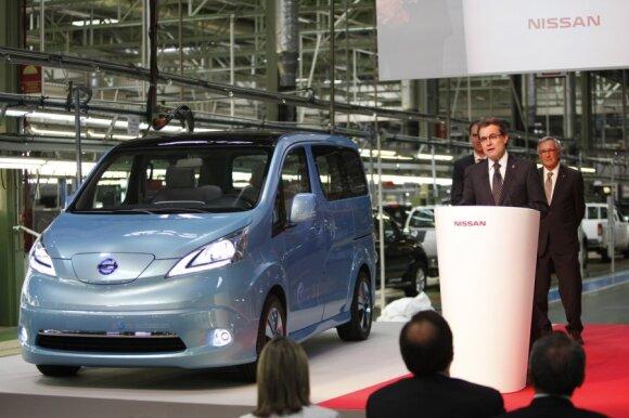 Nissan e-NV200 pristatymas Barselonoje