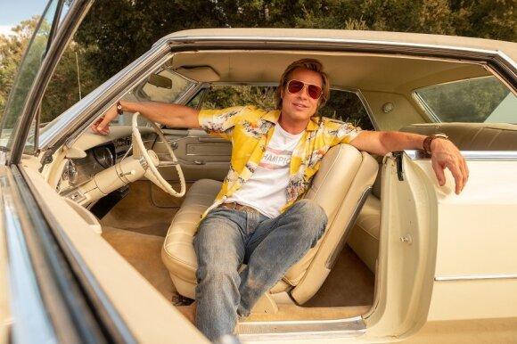 """Bradas Pittas, kadras iš filmo """"Vieną kartą Holivude"""""""