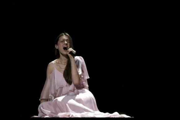 """Ieva Zasimauskaitė """"Eurovizijos"""" scenoje"""