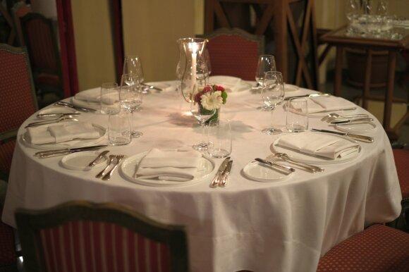 Taip padengtas stalas