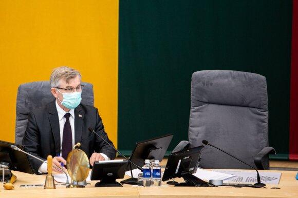 Skandalas Seime: per KT teisėjų svarstymą – pasipiktinimą sukėlęs Gražulio pareiškimas