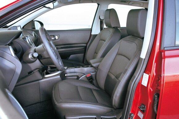 Visi išbandžiusieji gyrė patogią vairuotojo vietą ir gerą matomumą į priekį. Ergonomika aukšto lygio, mygtukai išdėstyti patogiai