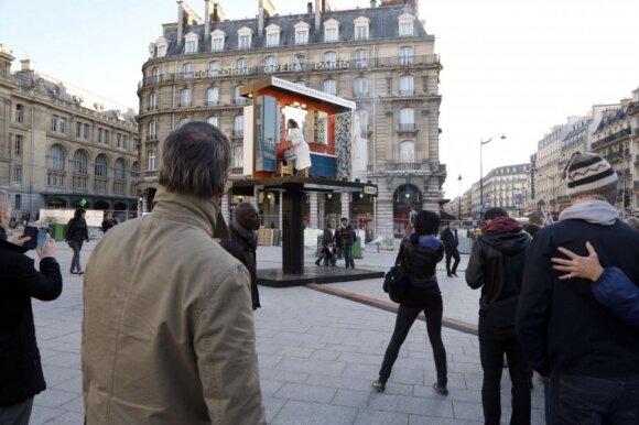 Vonios kambarys Paryžiaus metro stotyje