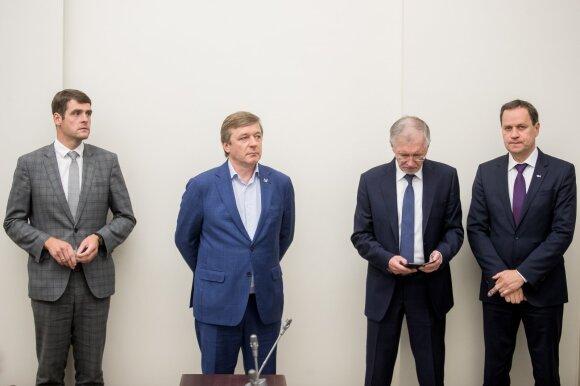 Remigijus Žemaitaitis, Ramūnas Karbauskis, Gediminas Kirkilas, Valdemaras Tomaševskis