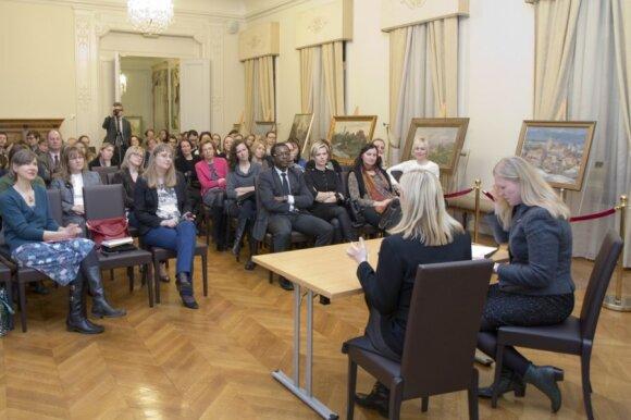 Rūta Šepetys at Lithuanian embassy in Belgium. Photo by Ramunė Skruodienė