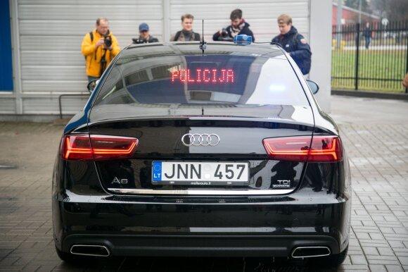 """Nauja nežymėta policijos """"Audi"""""""