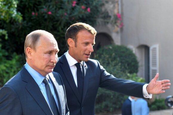 Vladimiras Putinas, Emmanuelis Macronas