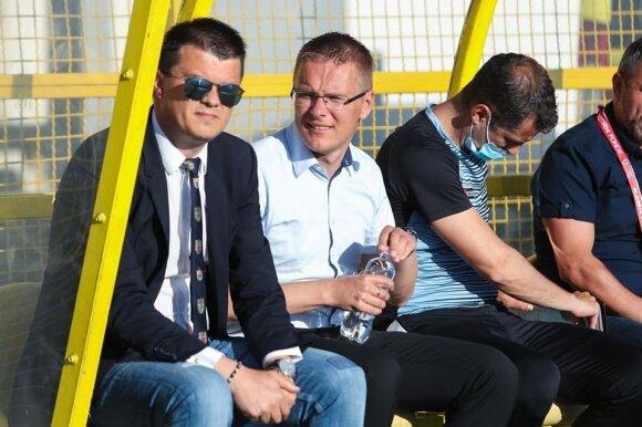"""Mindaugas Nikoličius (kairėje), Valdas Dambrauskas (Foto: HNK """"Gorica"""")"""