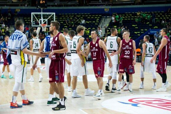 Kontrolinės krepšinio rungtynės Lietuva - Latvija