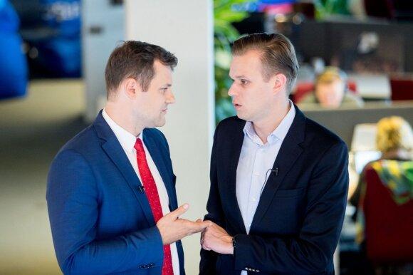 Gintautas Paluckas ir Gabrielius Landsbergis