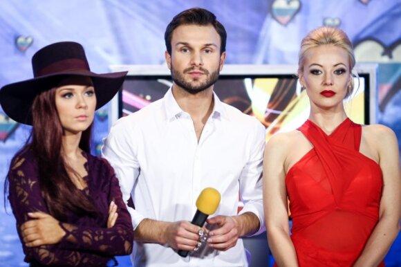 Monika Linkytė, Vaidas Baumila ir Mia