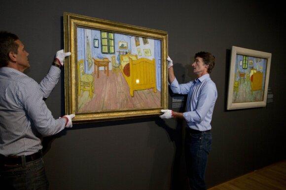 "V. van Gogho paveikslas ""Miegamasis"" Amsterdamo muziejuje"