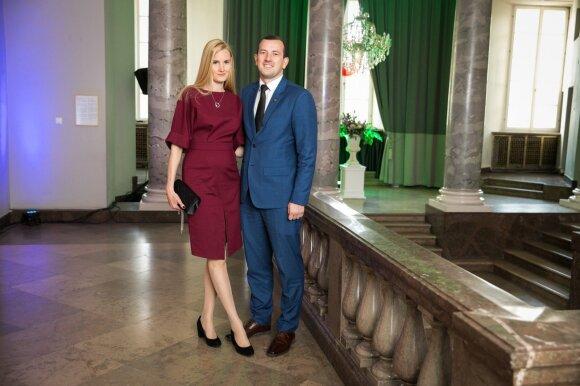Virginijus Sinkevičius su žmona Kateryna