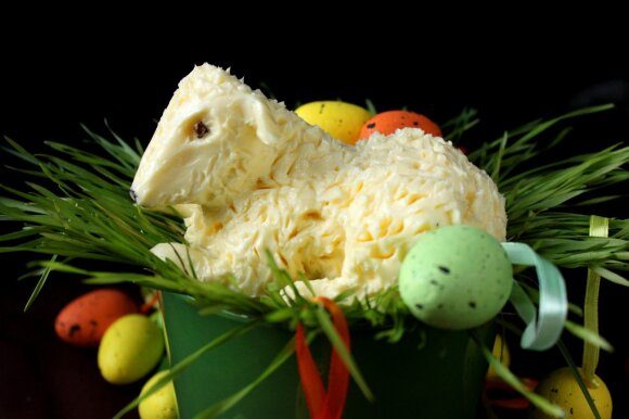 Sviestinis Velykų avinėlis