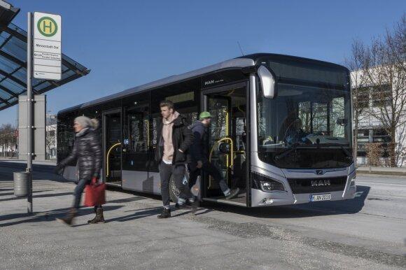 """""""MAN Lion's City 12"""" hibridiniai autobusai"""