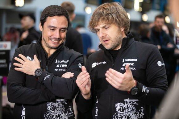 Trijų Dakaro ralio komandų išlydėtuvės Vilniaus oro uoste
