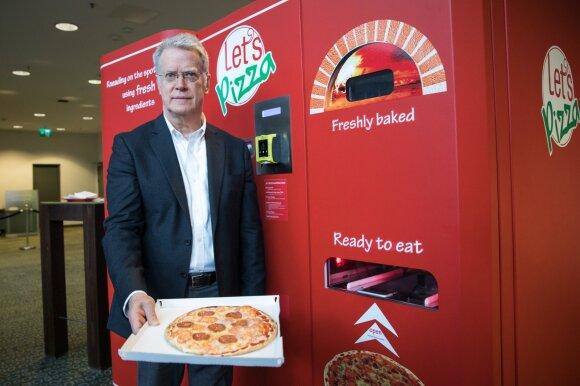 Pristatė pirmąjį Lietuvoje picomatą: per 3 minutes iškepta pica kainuos apie 5 eurus