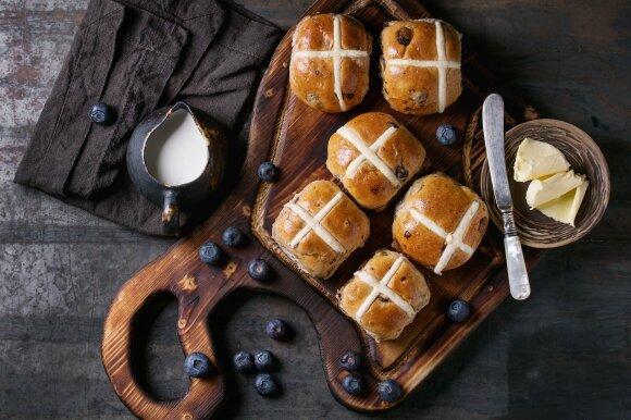 """""""Hot cross bun"""" bandelės"""