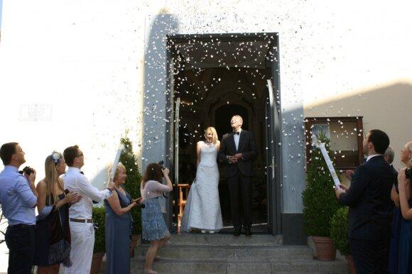 Kadras iš Olgos Raškauskienės vestuvių Italijoje