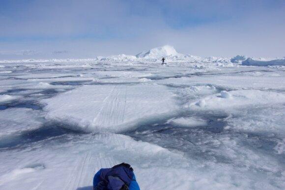 Akimirkos iš ekspedicijos Grenlandijoje/ A. Kuro nuotr.
