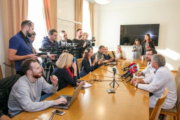 Spaudos konferencija Kauno klinikose