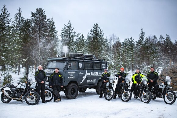 Karolis Mieliauskas Laplandijoje ruošė motociklininkus naujam iššūkiui