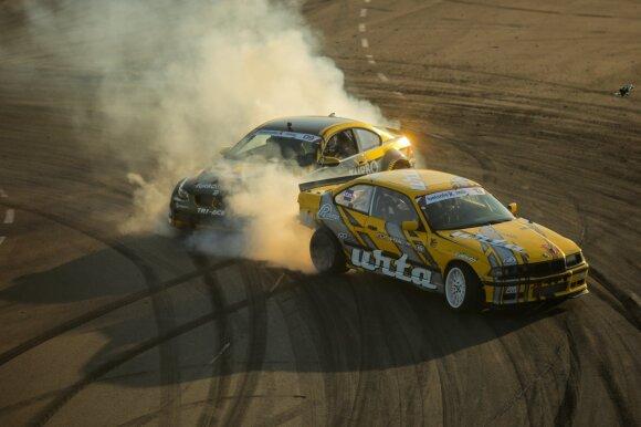 """Laukia karščiausios """"drifto"""" varžybos Lietuvoje: """"Nemuno žiede"""" per silpniems vietos neatsiras"""