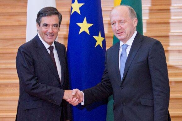 Francois Fillonas ir Andrius Kubilius
