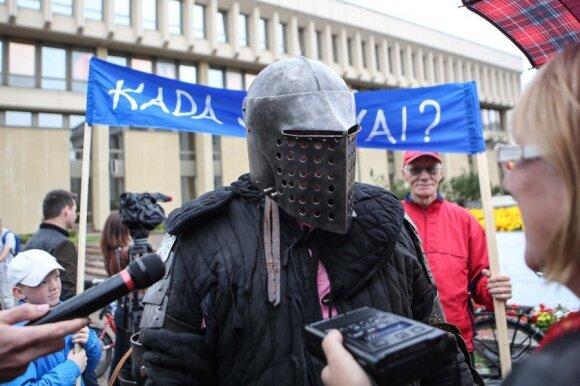 Dviratininkų protesto akcija