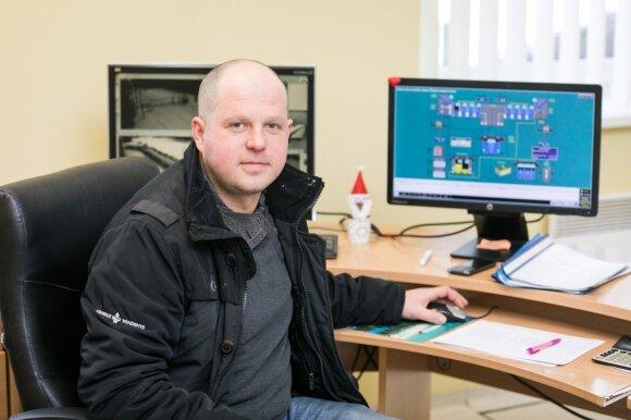 Vandentiekio stočių skyriaus inžinierius Vincas Šližys
