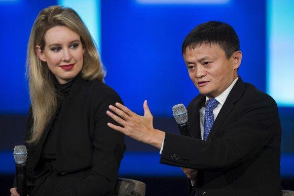 """Elizabeth Holmes ir """"Alibaba Group"""" vadovas Jack Ma"""