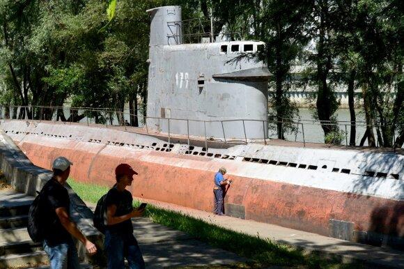 Sovietų povandeninis laivas Project 615 Krasnojarske